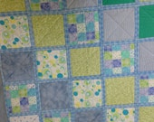 "Baby boy Quilt, Flannel Quilt, Baby quilt, 39""x39"", blue baby quilt, perfect for baby shower gift"