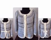 CROCHET PATTERN, Cardigan sweater, Shrug-Vest Jacket, Women and Teens, Small to 4XL, Clothing, #784, The Gatsby Sweater, Easy pattern