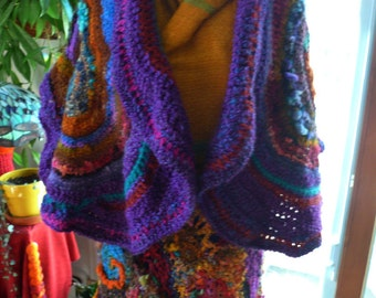 moonlight in the forest---a capacious shawl of handspun