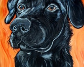 Custom Pet Portrait 20x16inch Original Painting Acrylic Painting Gift Art Dog Portrait
