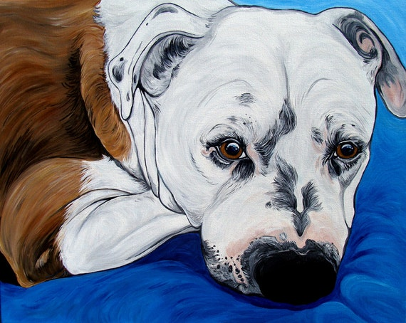 Custom pet portrait 20x16inch original painting by wooffactory for Custom acrylic paint