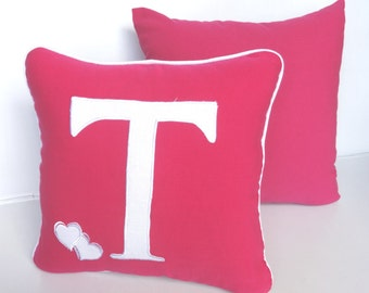 Monogram pillows - Custom Made-16 inch- letter, color can be changed