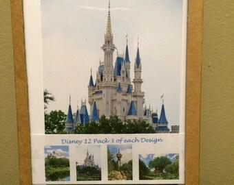 Disney World Set of 12 Greeting Cards