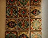 Hamsa Hand Moroccan Wall art Set wall Blocks 8x8 Set of 12 FREE or monogramming Best home decor moroccan wall art hamsa hand wall art