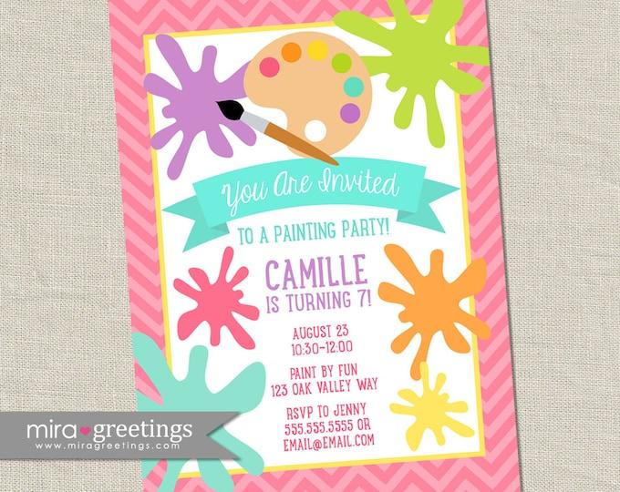 Paint Birthday Party Invitation - Printable Digital File
