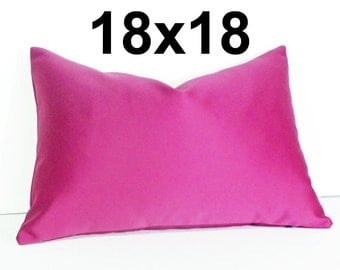 Pink Decorative Throw Pillows, Solid Pink Pillow Covers, Magenta Designer Pillows, Jewel Tones, Bold, Shimmer, 18x18 inches