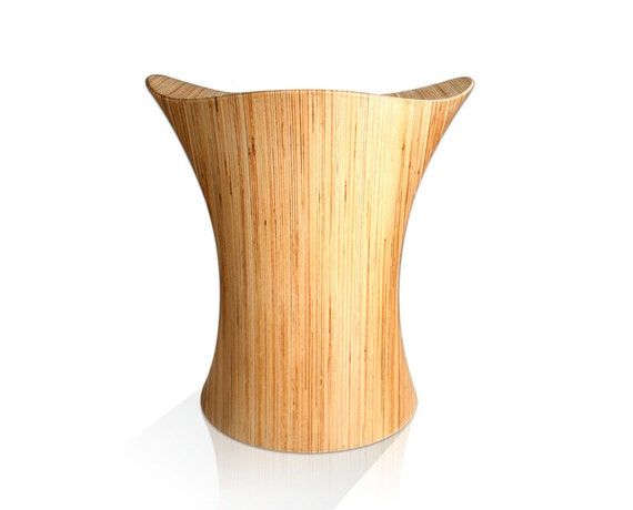 Wooden Stool, Stingray Stool Sculpted Wooden Chair, from Birch
