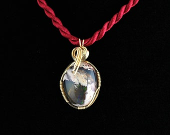 Cantera Mexican Opal Pendant. Listing 215424867