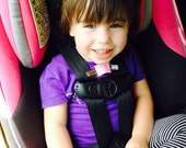 Harness Helper prevents kids from escaping car seat & stroller 5pt harnesses! Keeps kid's backpacks on, too!