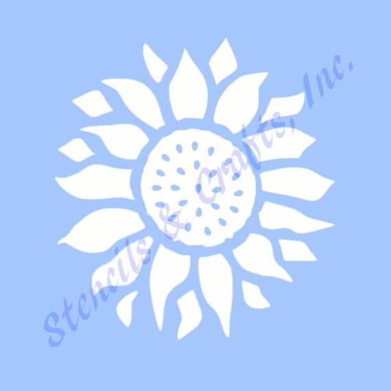 Sunflower stencil flower stencils template flowers