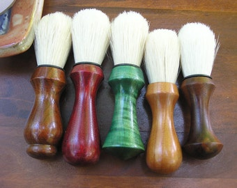 Handmade Wood Shaving Brushes Rustic Wedding