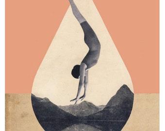Crater Lake - Art Poster - 16x20