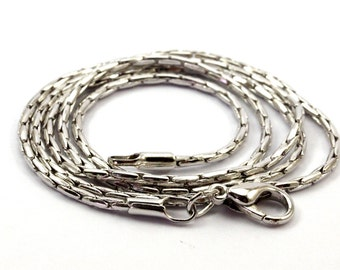 Silver Necklace Chain, 5 Pcs 18 Inch Silver Tone Brass Necklace Chain (1.4mm) Z141