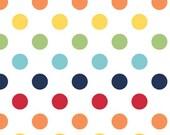 1 yard of Medium Rainbow Dots by Riley Blake