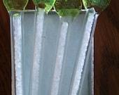 Green Heart Handmade Glass Swizzle Sticks with Salt