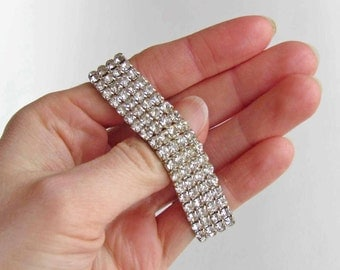 Silver Rhinestone Wristband for Prom
