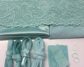 Hand Dyed Bra Making Kit Pale Jade Green