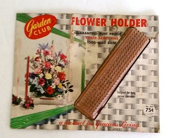 Vintage Garden Club Flower Holder, Flower Frog