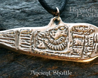 Ancient Shuttle - Pewter Pendant - Sumerian, Sumer, Ancient astronauts, Alien-Sky People, UFO