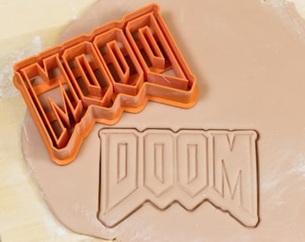 DOOM Cookie Cutter, Fondant Cutter, 3D Printed to order