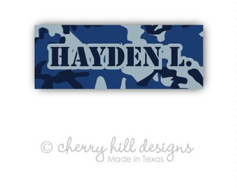 CAMO Iron-on clothing and fabric labels - set of 42 (smallest set) - several template options