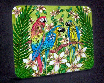 Parrot Paradise Cutting Board