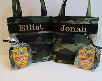 Ring Bearer Gift, Wedding, Camouflage, Kids Tote, Boys Tote, Personalized, by LBs Sewing Sanity