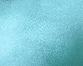 Faux Leather Fabric in Lambskin Pattern - Baby Blue - Half Yard - Vegan Leather