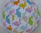 EASTER bunny Balloon Ball - Great Toy to add to the Kids Basket - ready to ship