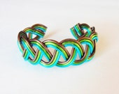 BRAIDED Celtic Cuff - Hand Wire Wrapped Bracelet - Choose Your Own COLORS