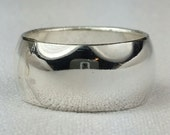 Sterling silver domed band, Size 8, Ready to ship, Free US Shipping