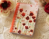 Illustrated notebook - Poppies
