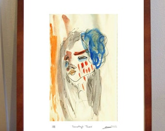 Dorothy's Tears-  A4 Print of watercolour portrait of girl