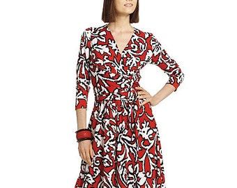 Wrap Dress Sewing Pattern - Womens Knit Dress Pattern - McCalls 5974 - M5974 Pattern - Uncut, Factory Folded