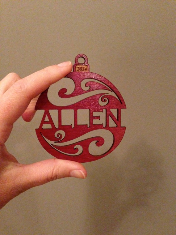 personalized custom wood christmas ornament