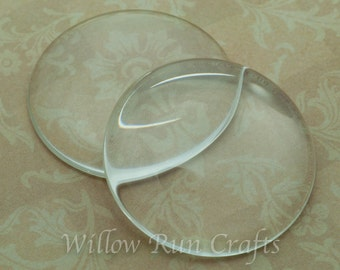 10 Pack 38mm Circle Glass Cabochons 38mm (09-11-710)