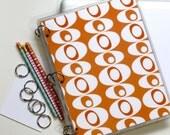 Planner Cover, 9 x 11, Mid Century Modern Blobs, Orange