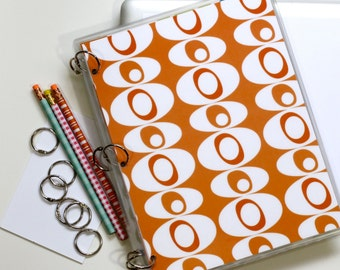 Planner Cover, 9 x 11, Mid Century Modern Blobs, Orange