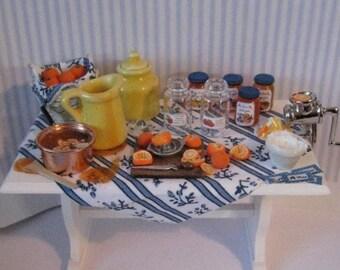 Dollhouse table, Making Marmelade , Marmalade miniature, Miniature, A dollhouse item, twelfth scale