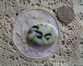 Cameo Darling Chickadees 40x30 Porcelain Hand Applied Fired Decal ECS