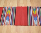 on Sale! Vintage SERAPE WOOL Rug Blanket mexican indian GREAT colors good size