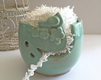 Yarn Bowl Ceramic - Knitting Bowl - Mother's Day Gift - Ceramic Yarn Bowl Bird Bowl Handmade Pottery