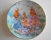 "Avon Easter 1992 Vintage 5"" Plate Porcelain Plate Colorful Moments Vintage Plate Coloring Eggs Home Decor Display Item"