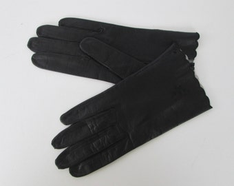 Kislav Black Leather Gloves - Never worn