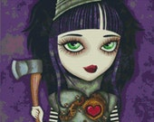 Cross stitch modern art by Sandra Vargas 'Tin Girl' - Wizard of Oz cross stitch kit