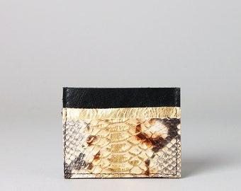 PIKKU Leather cards cash holder case mini wallet