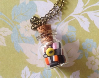 Teeny Tiny Allsorts Candy Bottle Necklace