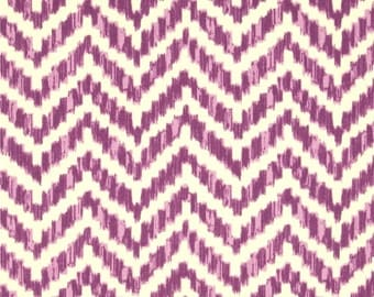 PURPLE IVORY  CHEVRON --Both Sides -Decorative Designer Pillow Cover- Purple Ivory Throw/Lumbar Pillow-Deep Violet
