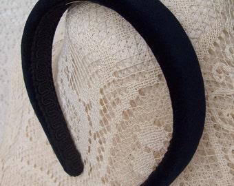 Navy Blue Velvet Headband