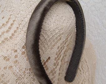 Pewter Velvet Headband